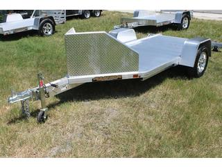 Motorcycle Trailer with Aluminum Fenders