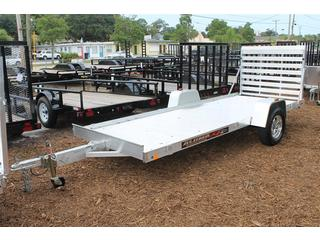 Utility Trailer with Tie Downs