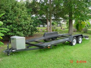 Used Car Trailer with Split Deck