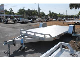 Utility Trailer with Side Mount Tire Bracket