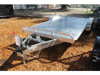 Open Car Trailer with Slide In Ramps