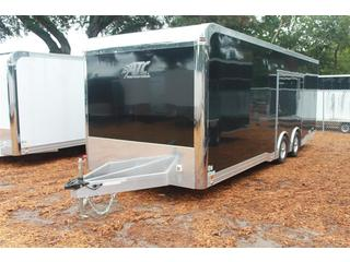 Enclosed Race Car Trailer in Black