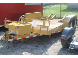 Used Equipment Trailer with Tie Downs