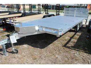 Aluminum Equipment Trailer with Dual Bi-Fold Ramps