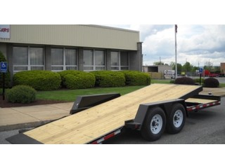 Tilt Bed Trailer with Wood Floor