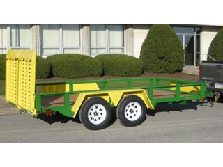 Landscape Trailer with Wood Floor