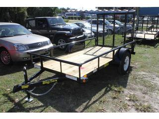 Pipe Utility Trailer with Tie Downs