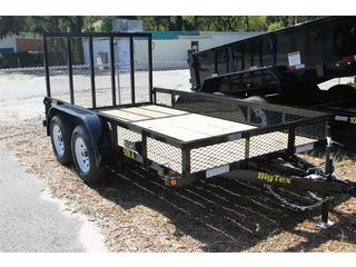 Utility Trailer with Mesh Metal Sides