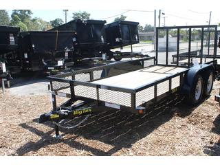 Utility Trailer with Expanded Metal Sides