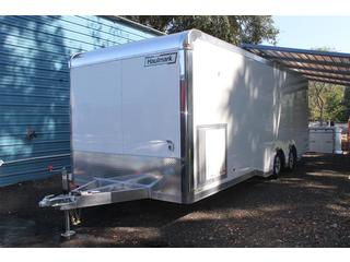 Aluminum Car Hauler with Cabinets