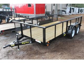 Pipe Trailer with Mesh Metal Sides